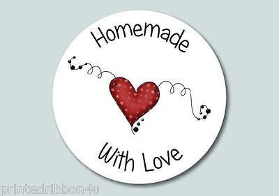 15 Homemade With Love Jam Pot Chutney Jar Labels Heart Preserve Stickers • 2.25£