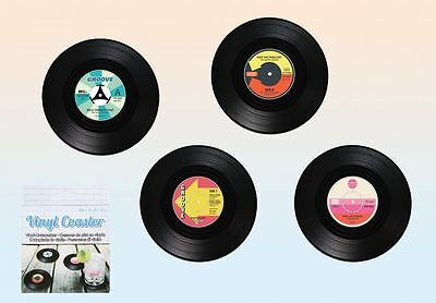 Vinyl Record Coasters Set Pack Of 4 Music Coffee Drink Cup Gift Barware • 3.40£