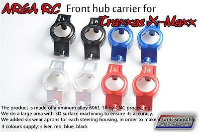 AU65.99 • Buy 1/5 Traxxas X-Maxx Front Hub Carrier X2pcs Alloy Silver By Area RC