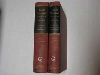 £8.62 • Buy 2 BOOK SET Louis Marshall, Champion Of Liberty: Selected Papers And Addresses