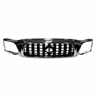 $142.95 • Buy Front Chrome & Black Grille Grill For 01-04 Toyota Tacoma Pickup Truck