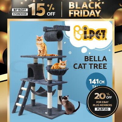 AU82.90 • Buy I.Pet Cat Tree Trees Scratching Post Scratcher Tower Condo House Grey Bed 141cm