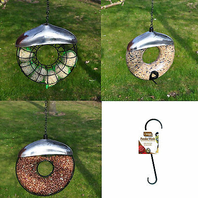 £8.99 • Buy Hanging Wild Bird Feeder Seed Nuts Suet Fat Ball Feeding Station Table Donut New