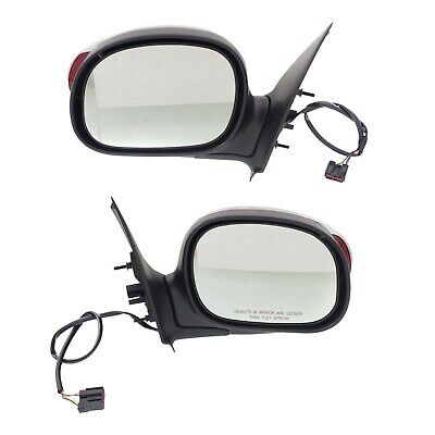 $130.95 • Buy Power Mirror Set Of 2 For 2000-2001 Ford F-150 Left And Right Chrome Manual Fold