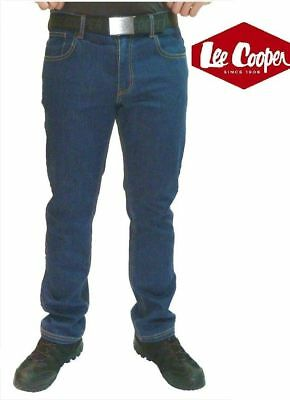 REDUCED Lee Cooper 218 Blue Stretch Denim Work Jeans Classic Fit 5 Pocket 30-42 • 19.99£
