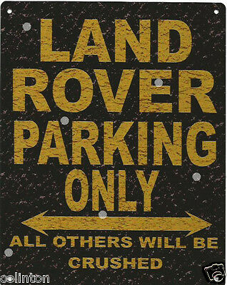 LAND ROVER PARKING METAL SIGN RUSTIC VINTAGE STYLE6x8in 20x15cm Garage   • 6.95£