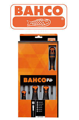 NEW BAHCO FIT 6 Piece Pozi/Phillips/Slotted Pz Ph Slot Screwdriver Set B219.026 • 21.59£