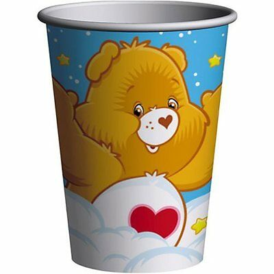 CARE BEARS Rainbow 9oz PAPER CUPS (8) ~ Birthday Party Supplies Beverage Drink • 12.75£