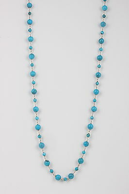 $ CDN338.79 • Buy Wk Whiteny Kelly Sterling Turquoise Colored Beads Necklace 925 Signed 4834