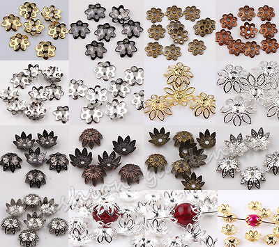 $ CDN0.99 • Buy Wholesale Lots 500pcs Silver Gold Plated Metal Flower Bead Caps 6mm Findings /bw