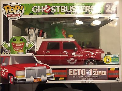 SDCC 2016 Exclusive Funko Pop Rides Ghostbusters Ecto 1 With Slimer Limited Ed. • 96.69£