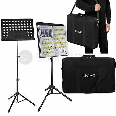 £22.95 • Buy Music Sheet Stand Heavy Duty Foldable Orchestral Holder With Carrying Bag