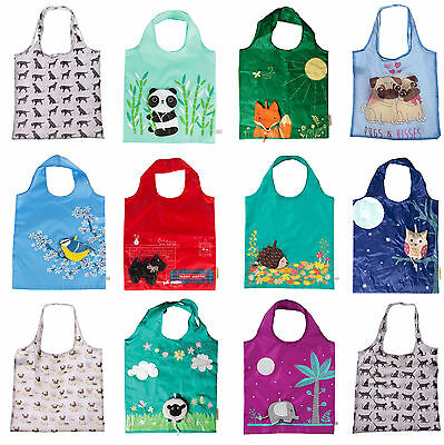 Reusable Foldable Ladies Shopping Bag Eco Animal Tote Handbag Fold Away Bag  • 3.80£