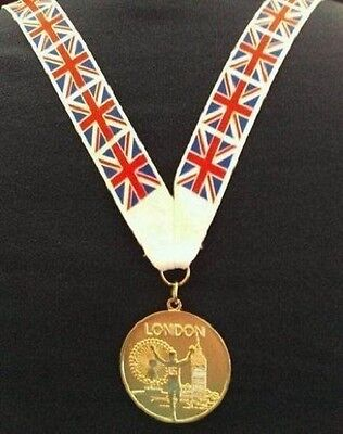 £2.50 • Buy Gold Medal- Gold London 2012 Olympics Style Medal With Lanyard (MI3)