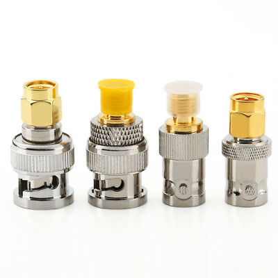 4pcs/Set BNC To SMA Type Male Female RF Connector Adapter Test Converter Kit • 2.99£