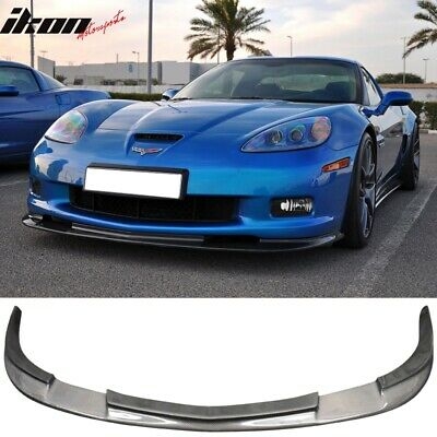 $299.99 • Buy Fits 05-13 Chevy Corvette C6 Z06 Zr1 Style Front Bumper Lip - Carbon Fiber
