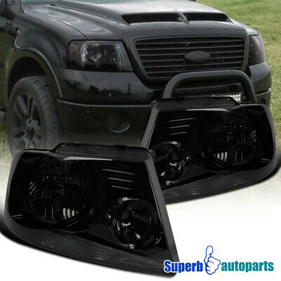 $77.98 • Buy For 2004-2008 Ford F150 Headlights Head Lamps Smoke Pair Replacement