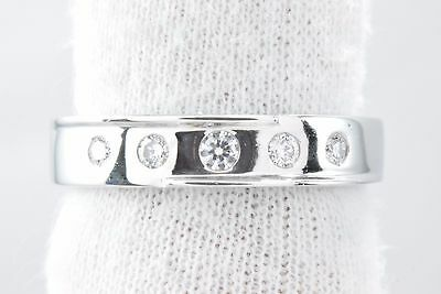$300 • Buy 18k Solid White Gold Natural Diamond 1/4 Tcw Band E/VS2 Ring