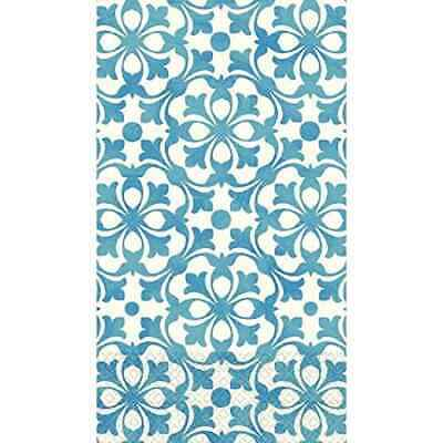 French Quarter Blue White Ornate Garden Tea Party Paper Napkins Guest Towels • 7.34£