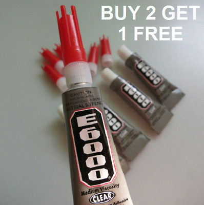 Industrial Strength E6000 Glue 5.3ml For Rhinestones Crystals With Nozzle • 2.59£