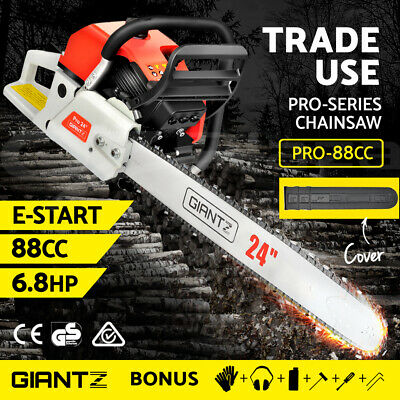 AU199.95 • Buy Giantz Petrol Commercial Chainsaw E-Start 24 Bar Pruning Chain Saw Top Handle