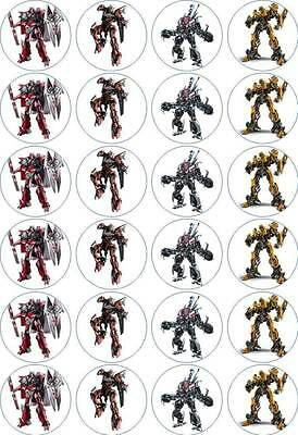 24 X 4.5cm TRANSFORMERS #1 EDIBLE WAFER PAPER CUPCAKE TOPPERS • 1.99£