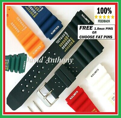 £7.95 • Buy ⭐18mm To 24mm ND LIMITS TIME Divers Watch Strap Durable Soft NEW Silicone Rubber