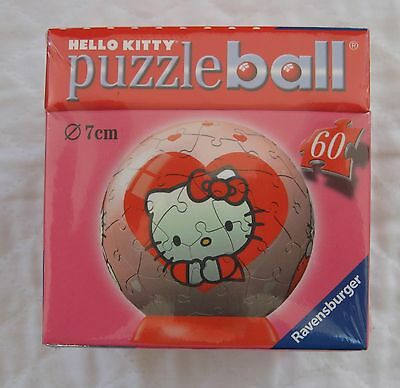 $10.77 • Buy Ravensburger Hello Kitty Valentine Heart Puzzle Ball 60 Pieces New! Sealed