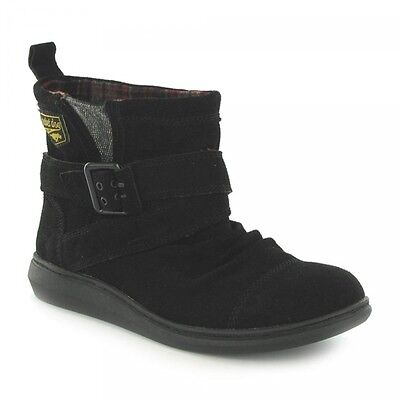 Rocket Dog MINT Ladies Womens Suede Slip On Warm Comfort Ankle Snow Boots Black • 38£