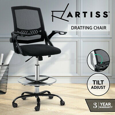 AU104.95 • Buy Artiss Office Chair Gaming Mesh Veer Drafting Stool Chairs Standing Desk Armrest