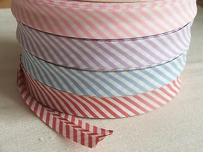 £2.70 • Buy 18mm Striped And Gingham Bias Binding For Sewing & Crafts Per 2 Ms
