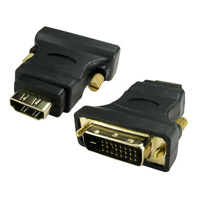 AU5.38 • Buy HDMI To DVI Adaptor DVI-D Digital Monitor Cable Lead Converter GOLD Adapter