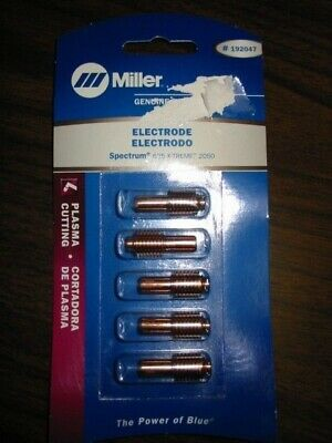 $57.95 • Buy Miller Genuine Electrodes For Plasma Spectrum 625 X-treme, 2050 - Qty 5 - 192047