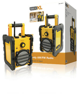 HEAVY DUTY Water Resistant Portable FM AM RADIO Construction Site Strong Tools • 44.92£