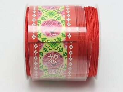 $3.94 • Buy 100 Meters Red String 0.8mm Nylon Cord Chinese Knot Synthetic Silk Cord