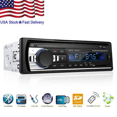 $19.99 • Buy Bluetooth Car Stereo Audio In-Dash FM Aux Input Receiver SD USB MP3 Radio Player