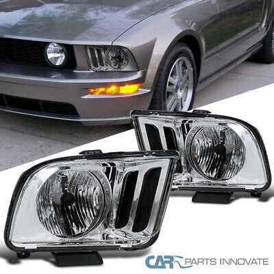 $70.25 • Buy For 05-09 Ford Mustang GT Clear Headlights Driving Head Lights Lamps Left+Right