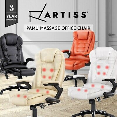 AU259.95 • Buy Artiss Massage Office Chair Gaming Chair Computer Chairs Heated Recliner 8-Point
