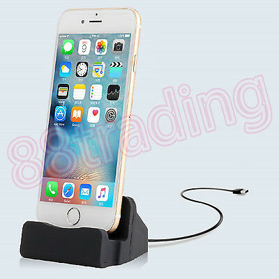 Desktop Charger Dock Sync Charge Stand Cradle With Cable For Phone And Tablet • 6.98£