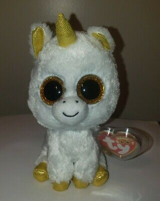 86994b03cd8 Ty Beanie Boos ~ PEGASUS The White Unicorn (6 Inch)(Claire s Exclusive)