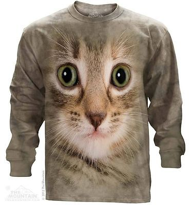 £17.74 • Buy The Mountain Kitten Face Long Sleeve Cat T-Shirt NEW!