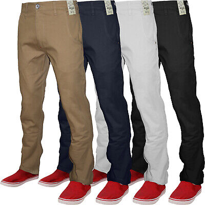 New Mens Jacksouth Designer Skinny Fit Stretch Chino Straight Leg Trousers Pants • 12.95£
