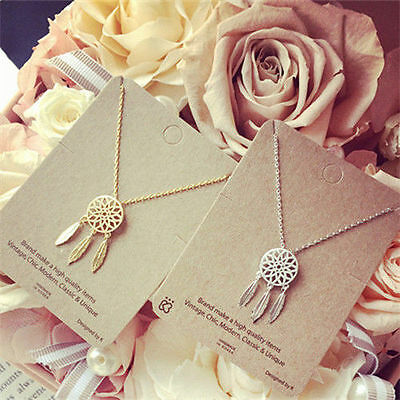 $0.70 • Buy Fashion Women Dream-catcher Pendant Necklace Gold Chain Feather Choker Jewelry