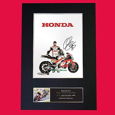 CAL CRUTCHLOW Signed Reproduction Autograph Mounted Photo Print A4 628 • 18.99£