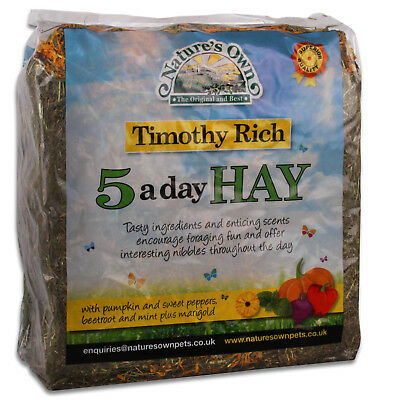 £7.99 • Buy Nature's Own 5 A Day Timothy Rich Bedding Food Hay Rabbit Guinea Pig High Fibre