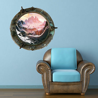 Full Colour Porthole Planet  Galaxy Spaceship Wall Art Sticker Decal Mural 10 • 18.98£