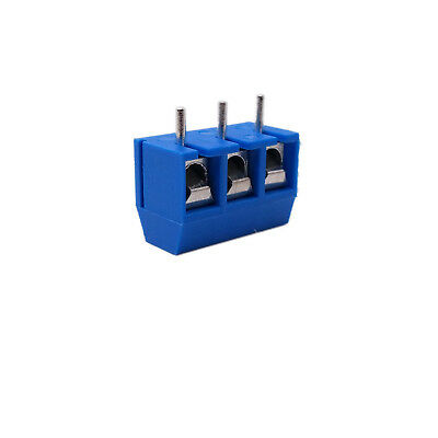 $4.75 • Buy US Stock 20x 5mm Pitch 3 Pin 3 Way PCB Screw Terminal Blocks Connector Blue