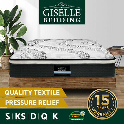 AU269 • Buy Giselle Bed Mattress Queen Double King Single Pocket Spring Foam Medium Firm 32