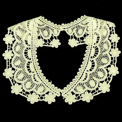 Vintage Period Guipure Lace Collar, Cream Or Ivory Lace Sewn On Dressmaking, L52 • 2.95£
