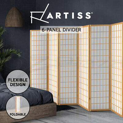 AU163.95 • Buy Artiss 6 Room Divider Screen Solid Wood Timber Dividers Panel Fold Stand Privacy